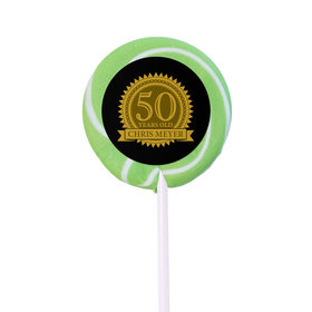 Birthday Personalized Small Swirly Pop Age Seal (24 Pack)