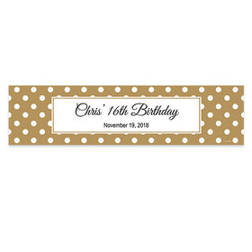 Personalized Polka Dot Pattern Birthday Banner