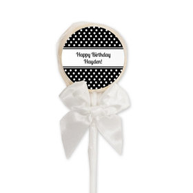 Birthday Personalized Lollipop Polka Dot (24 Pack)