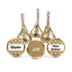 Personalized Birthday Dotty Hershey's Kisses (50 pack)
