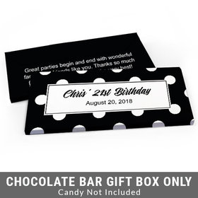 Deluxe Personalized Birthday Dots Birthday Candy Bar Cover