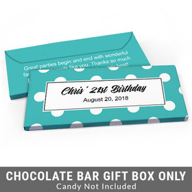Deluxe Personalized Birthday Dots Birthday Candy Bar Favor Box