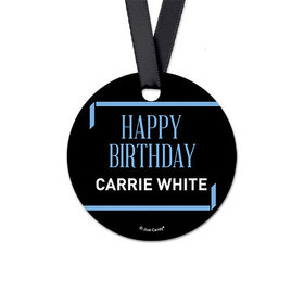 Personalized Let's Celebrate Birthday Round Favor Gift Tags (20 Pack)