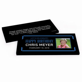 Deluxe Personalized Celebrate Photo Adult Birthday Hershey's Chocolate Bar in Gift Box