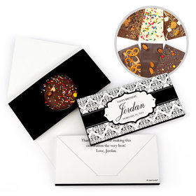 Personalized Baroque Pattern Birthday Gourmet Infused Belgian Chocolate Bars (3.5oz)