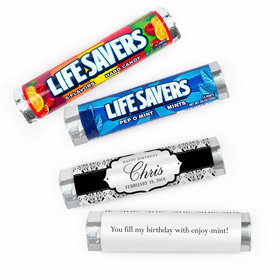 Personalized Baroque Pattern Birthday Lifesavers Rolls (20 Rolls)