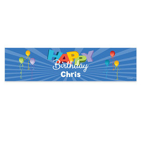 Personalized Balloons Birthday 5 Ft. Banner