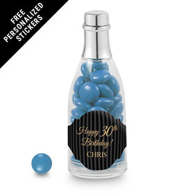 Milestones Personalized Champagne Bottle 30th Birthday Favors (25 Pack)