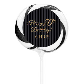 "Milestones Personalized 3"" Whirly Pop 70th Birthday Favors (24 Pack)"