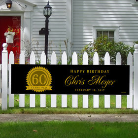 Personalized 60th Certificate Birthday 5 Ft. Banner
