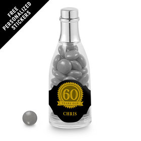 Milestones Personalized Champagne Bottle 60th Birthday Favors (25 Pack)