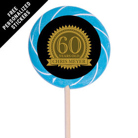 "Milestones Personalized 3"" Swirly Pop 60th Birthday Favors (12 Pack)"