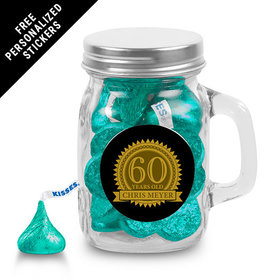 Milestones Personalized Mini Mason Jar 60th Birthday Favors (12 Pack)