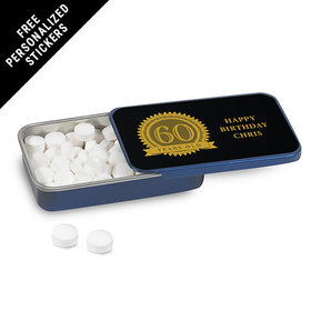 Milestones Personalized Mint Tin 60th Birthday Favors (12 Pack)