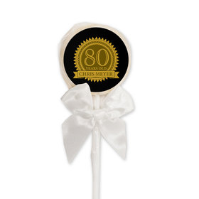 Milestones Personalized Lollipop 80th Birthday Favors (24 Pack)