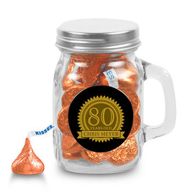 Milestones Personalized Mini Mason Jar 80th Birthday Favors (12 Pack)