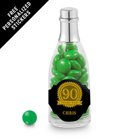 Milestones Personalized Champagne Bottle 90th Birthday Favors (25 Pack)