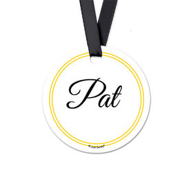 Personalized Script Birthday Round Favor Gift Tags (20 Pack)