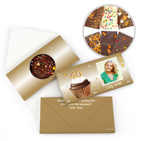 Personalized 40th Cupcake Photo Milestone Birthday Gourmet Infused Belgian Chocolate Bars (3.5oz)