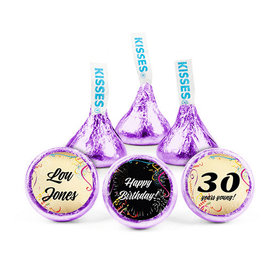 Personalized Milestone 30th Birthday Confetti Hershey's Kisses (50 pack)