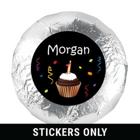 "My First Cupcake 1.25"" Sticker (48 Stickers)"