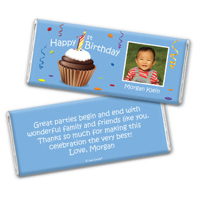 My First Cupcake Personalized Candy Bar - Wrapper Only