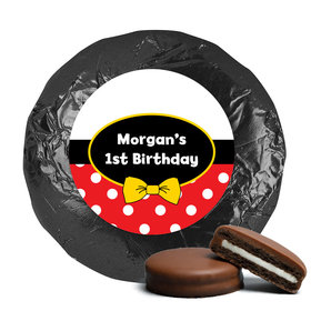 His Mousey Birthday Belgian Chocolate Covered Oreo Cookies Assembled