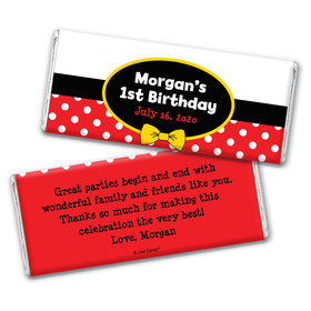 His Mousey Birthday Personalized Candy Bar - Wrapper Only