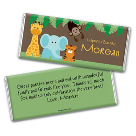 Jungle Friends Personalized Candy Bar - Wrapper Only