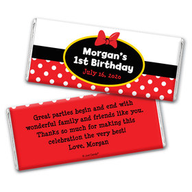 Her Mousey Birthday Personalized Candy Bar - Wrapper Only