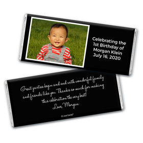 First Birthday Snapshot Personalized Candy Bar - Wrapper Only