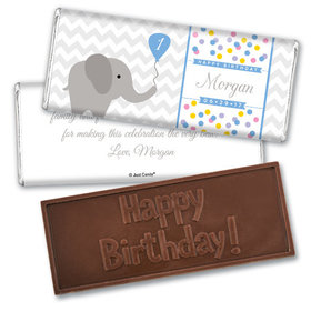 Elephun Personalized Embossed Chocolate Bar Assembled