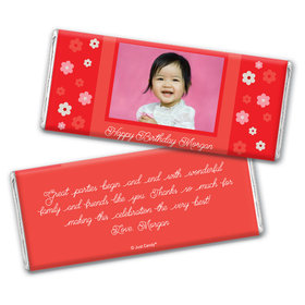 First Flowers Personalized Candy Bar - Wrapper Only