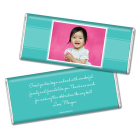 Birthday Personalized Chocolate Bar Photo