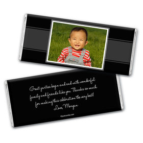 First Birthday Portrait Personalized Candy Bar - Wrapper Only