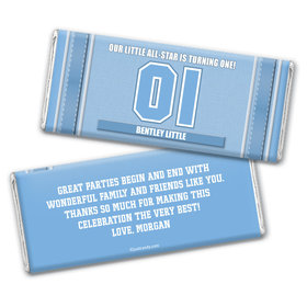 #1 Player Personalized Candy Bar - Wrapper Only