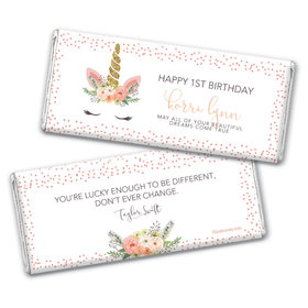 Personalized Birthday Whimsical Unicorn Chocolate Bar Wrappers