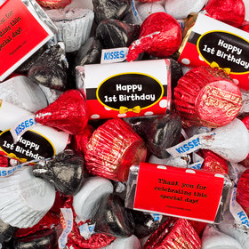 1st Birthday Mickey Themed Hershey's Miniatures, Kisses and Reese's Peanut Butter Cups