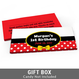 Deluxe Personalized Mickey Mouse First Birthday Candy Bar Cover