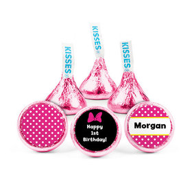 Personalized First Birthday Minnie Hershey's Kisses (50 pack)
