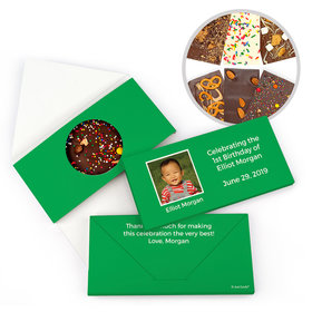 Personalized Photo & Message Birthday Gourmet Infused Belgian Chocolate Bars (3.5oz)