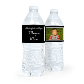 Personalized First Birthday Photo Water Bottle Sticker Labels (5 Labels)