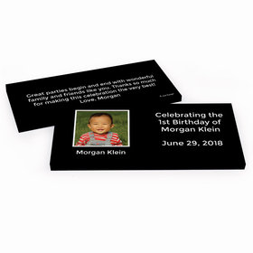 Deluxe Personalized Photo & Message First Birthday Hershey's Chocolate Bar in Gift Box