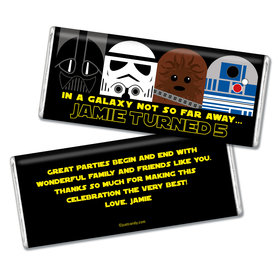 Personalized Galactic Empire Youth Birthday Chocolate Bar & Wrapper