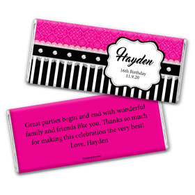 Glamorous Girl Personalized Candy Bar - Wrapper Only