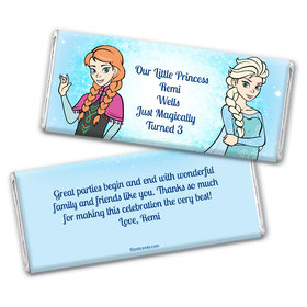Snow Princesses Personalized Candy Bar - Wrapper Only