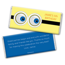 Eyes on Your Birthday Personalized Candy Bar - Wrapper Only