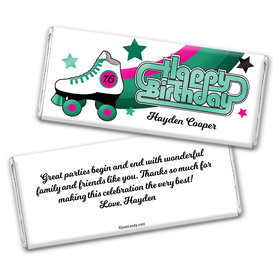 Boogie Skates Personalized Candy Bar - Wrapper Only