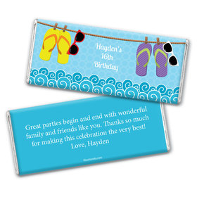 Sun Kissed Personalized Candy Bar - Wrapper Only