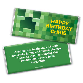 Creeper Craft Personalized Candy Bar - Wrapper Only